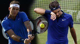 Del Potro y Federer se metieron en las semis de Stuttgart.