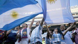 La hinchada argentina fue muy protagonista en la previa en el Soldier Field.