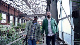 Maestros dibujantes. Liniers (a la izquierda) y Montt monologan