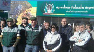 En Agroactiva. Directivos de AFA