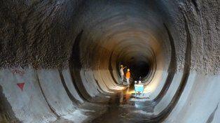 Conducto. La tarea de excavación se hizo de enero de 2013 a noviembre de 2015