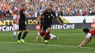 Dempsey celebra el gol que marcó la diferencia frente a Paraguay.