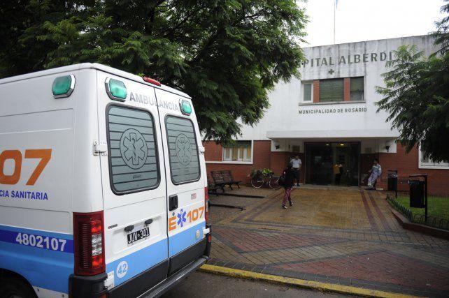 El Hospital Alberdi. La víctima fue llevada por sus familiares