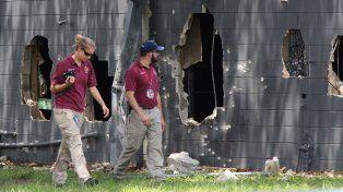 devastación. La fachada del club Pulse, destruida por los tiros y las explosiones. La batalla duró tres horas.