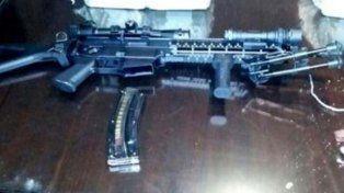 El arma secuestrada por la poicia