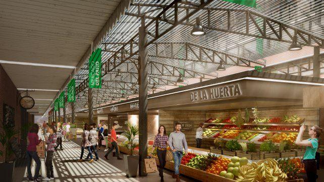 Conocé cómo va a ser el nuevo mercado popular que va a abrir en el Patio de la Madera