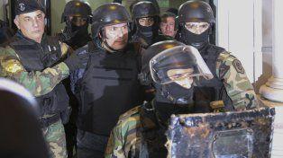 Operativo. López fue trasladado desde General Rodríguez