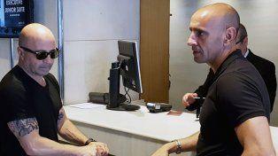 En España. Jorge Sampaoli dialoga con Monchi