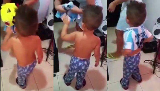 El tierno y gracioso reclamo a su mamá de un nene colombiano que quiere ser argentino