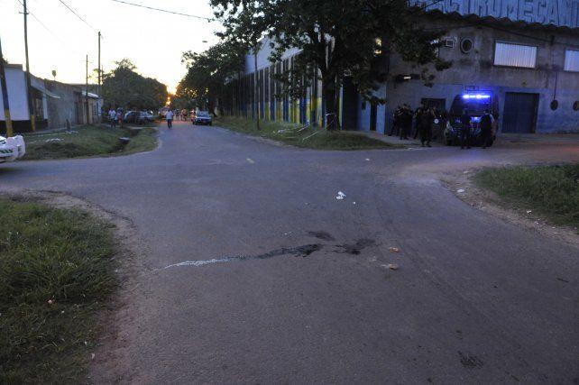 El lugar. La esquina donde en noviembre mataron a Alejandro Fernández.
