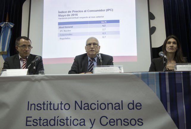 conferencia. El jefe del Indec celebró la recuperación de las estadísticas.
