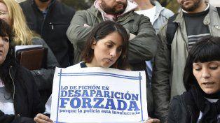 Los familiares de Escobar en una de las movilizaciones que realizaron para pedir que se esclarezca el caso.