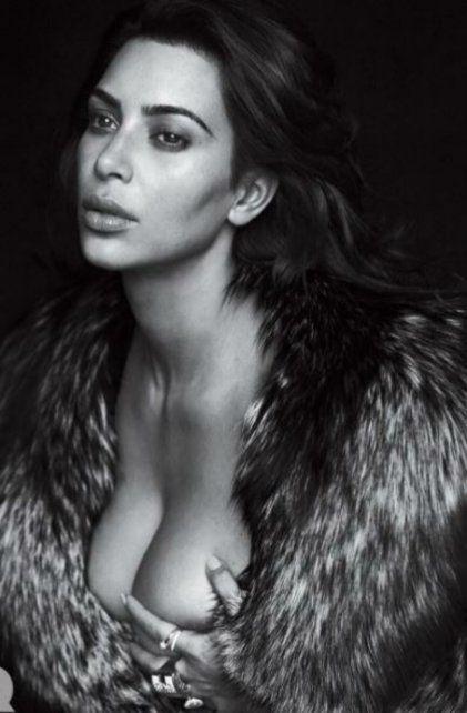 Kim Kardashian posó para la revista GQ.