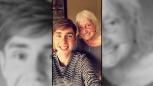 May Ashworth y su nieto Ben