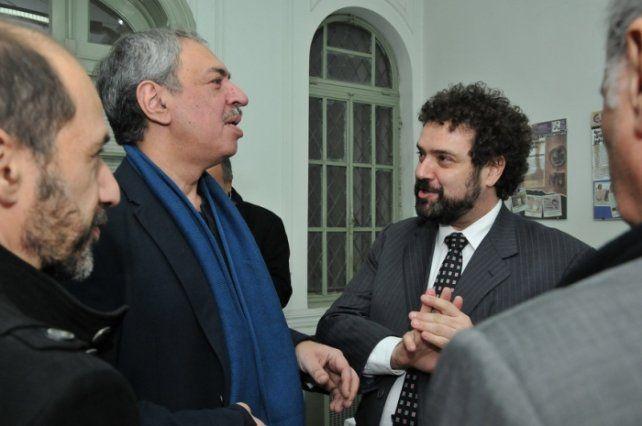 Confraternidad. Omar Abboud (segundo izq.) y Claudio Epelman.