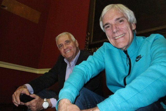 Entusiasmado. Salorio junto a Néstor Alvarez