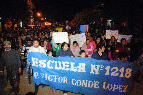 La comunidad de Quimilí se movilizó por pedido de justicia.