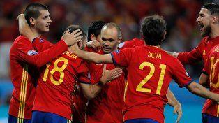 La celebración de España con Iniesta