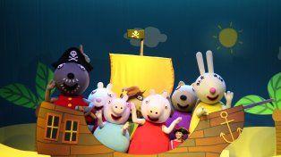 Universo en colores. El espectáculo incluye escenas de Peppa en el barco del abuelo Dog junto a sus amigos.