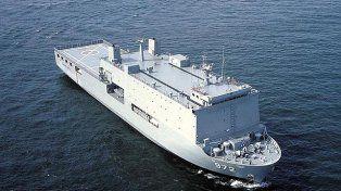 Avance. El barco de la clase Makassar permite el despliegue rápido de ayuda.