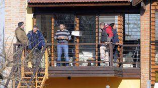 Dique Luján. El operativo policial de ayer en la quinta de José López en Tigre.