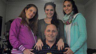 En familia. Búfalo Beltramino y sus tres hijas