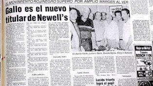 Tapa de la sección Deportes del diario en 1985.