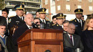 El gobernador habló en el acto y destacó el legado de Belgrano.