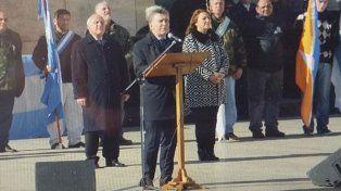 El presidente Macri marcó una diferencia en el discurso con el gobernador Lifschitz
