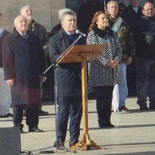 el presidente macri marco una diferencia en el discurso con el gobernador lifschitz