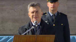 Macri en el Monumento: Vamos a derrotar al narcotráfico que tanto daño le hizo a Rosario