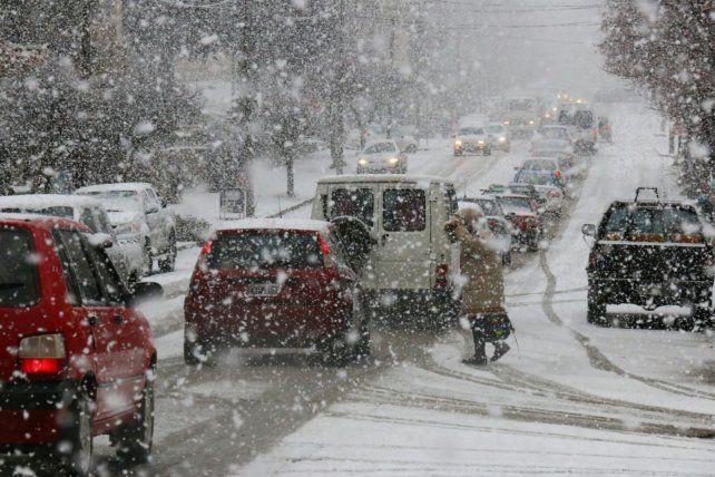 Bariloche. Las nevadas cayeron sobre vastas zonas de la cordillera de los Andes