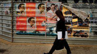 Indiferencia. Los afiches electorales no interesan a los españoles.