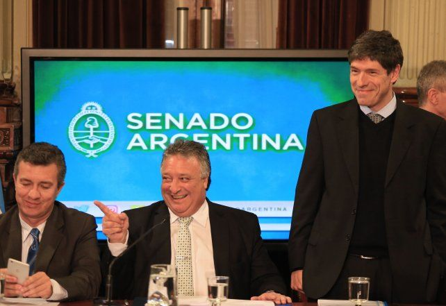 Comisiones. Los senadores Daniel Lobera y Juan Manuel Abal Medina.