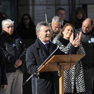 Macri, durante su discurso en el Patio Cívico del Monumento.