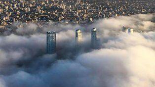 Así se ve Rosario desde el aire. (Foto: gentileza Walter Barreto).