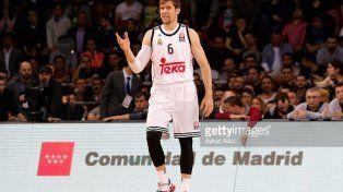 Festejo en Madrid. El Chapu alcanzó su tercera conquista en la Liga ACB.