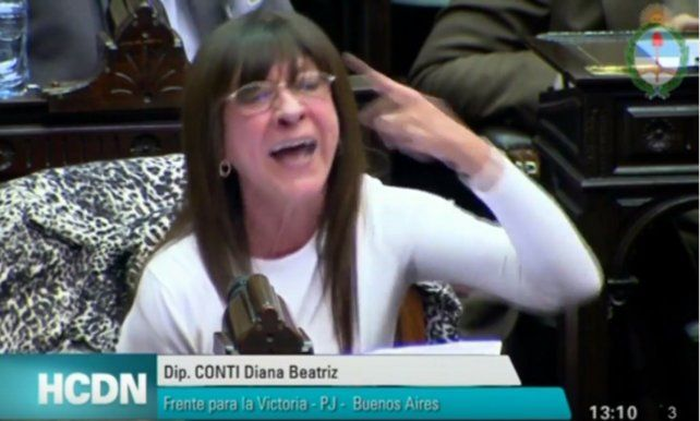 Diana Conti perdió los estribos en la Cámara de Diputados con un legislador de Cambiemos