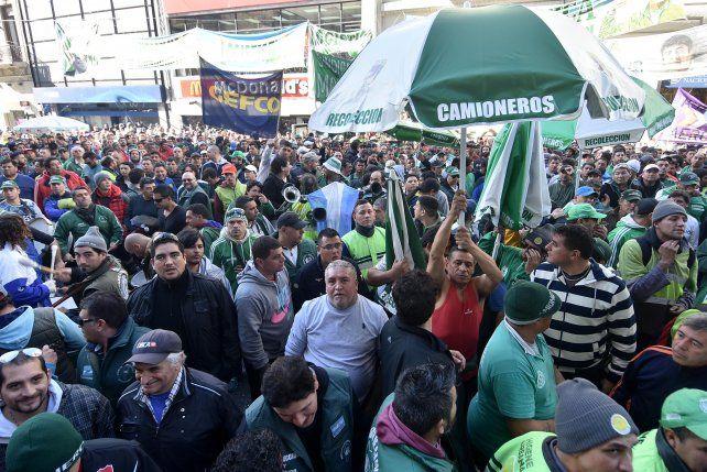 Plan de lucha. Una manifestación de camioneros marchó el miércoles en la ciudad de Buenos Aires.