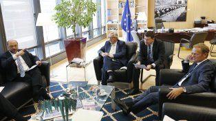 Los presidentes de las comisiones europeas durante la reunión de hoy en Bruselas.