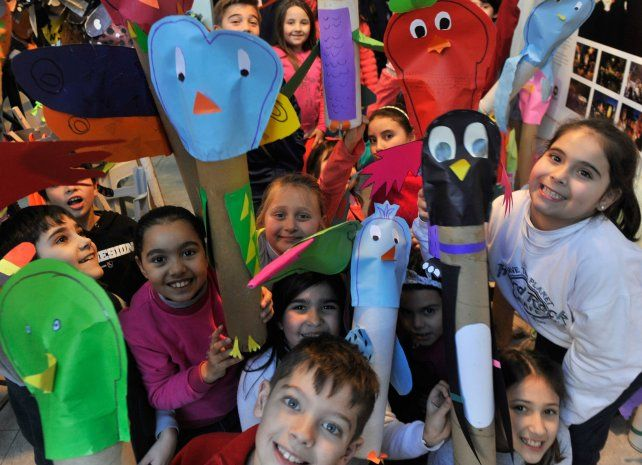 Los nenes y nenas del taller de arte (8 y 9 años)