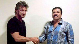 Reunión cumbre. El actor norteamericano y el narcotraficante mexicano.