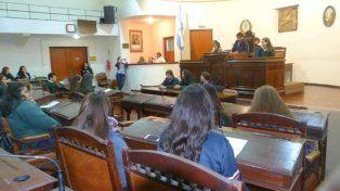 En acción. Los alumnos fueron concejales por un día.