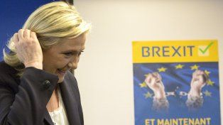 Populistas. La líder de la ultraderecha francesa Marine Le Pen quiere impulsar el Brexit en su país.