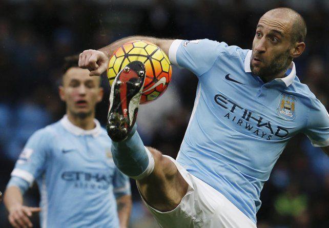 Trabas. Por ahora Zabaleta puede jugar sin limitaciones en el Manchester.