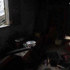 Chamuscado. Todo quedó reducido a cenizas en el humilde lugar donde mataron y quemaron a Mónica.