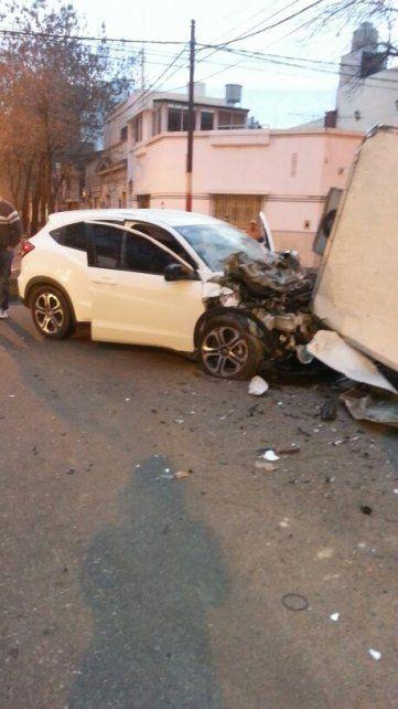 Violento accidente de tránsito en el macrocentro con un chofer que estaba alcoholizado