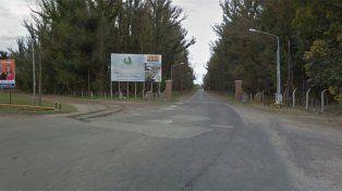 La zona donde se produjo el asesinato.