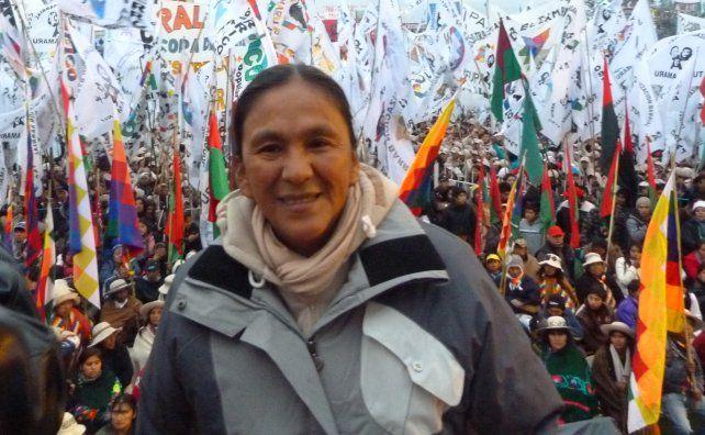 La líder de la organización Tupac Amaru