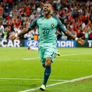 El grito de gol de Quaresma, que le dio la clasificación a Portugal en la Euro.